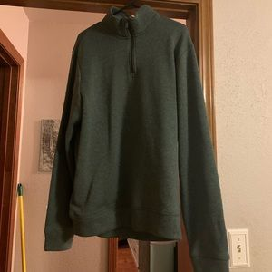 Men's green Old Navy half zip pullover size XL